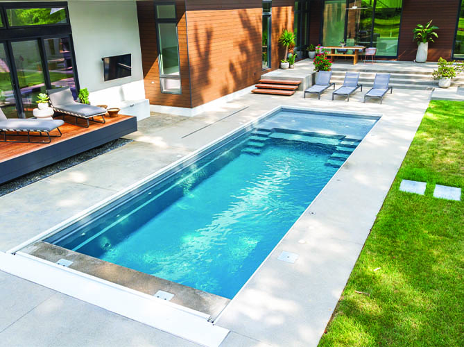 swimming pool area at home